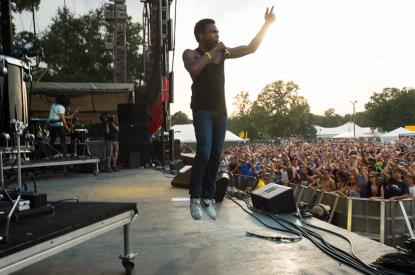 Childish Gambino (aka Donald Glover) performs live at Bonnaroo 2012 (photo courtesy of www.bonnaroo.com)
