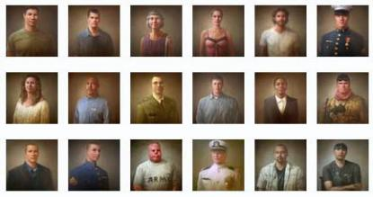 Selection from 100 Faces of War Experience